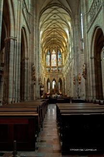 L'intérieur de la cathédral Saint-Vitus