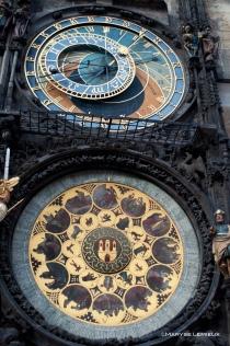 Horloge astronomique située au coeur de la vieille ville.