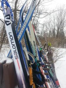 Skis au chalet Huron